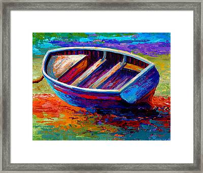 Riviera Boat IIi Framed Print by Marion Rose
