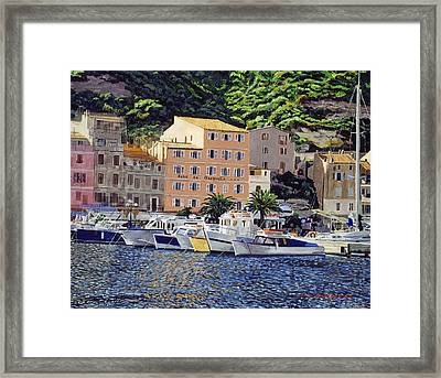 Riviera Morning Framed Print by David Lloyd Glover