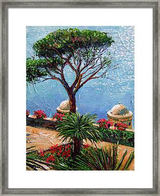 Riviera Plein Air Framed Print by David Lloyd Glover