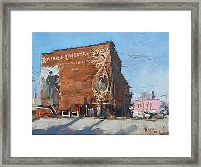 Riviera Theatre Historic Place In North Tonawanda Framed Print by Ylli Haruni