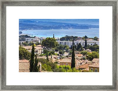 Riviera View Framed Print by Sandra Rugina