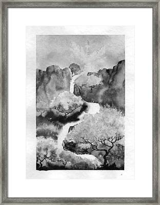 Framed Print featuring the painting Riviere Celeste by Marc Philippe Joly