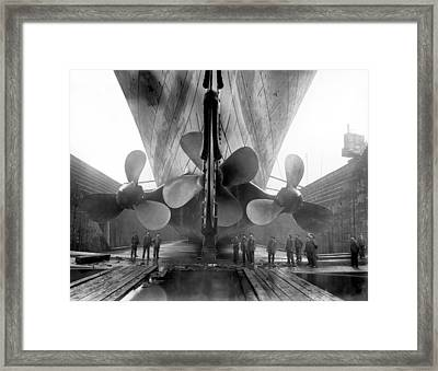 Rms Titanic Propellers Framed Print by War Is Hell Store