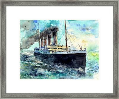 Rms Titanic White Star Line Ship Framed Print
