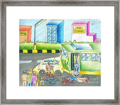 Road Accident Framed Print by Tanmay Singh