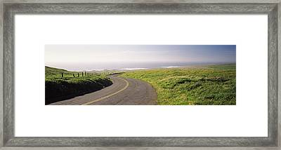 Road Along The Coast, Point Reyes Framed Print