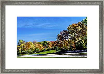 Road America In The Fall Framed Print