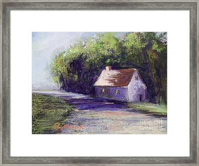 Road And House Framed Print by Joyce A Guariglia