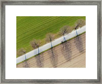 Road And Landscape From Above Framed Print
