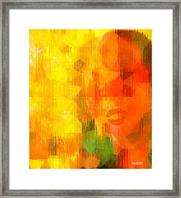 Framed Print featuring the painting Road Blocker by Fania Simon