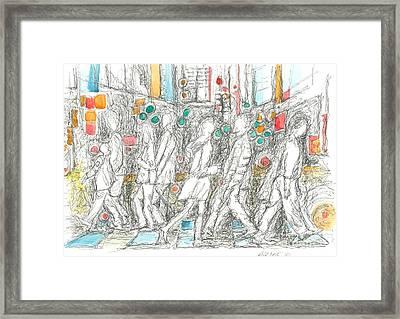 Road Crossing. 6 February, 2015 Framed Print by Tatiana Chernyavskaya