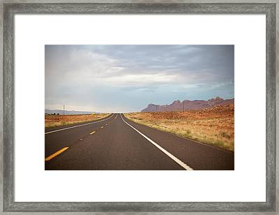 Road Framed Print by Elena Fantini
