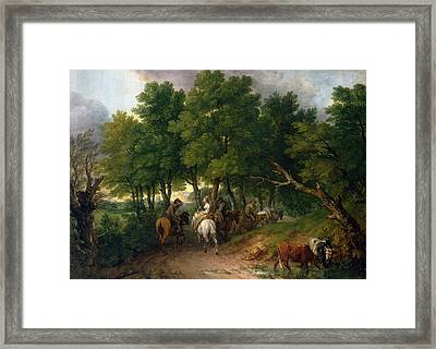 Road From Market  Framed Print
