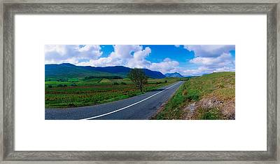 Road From Westport To Leenane, Co Mayo Framed Print