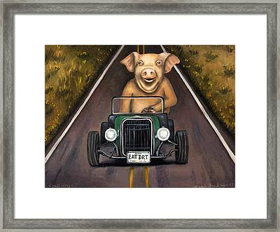 Road Hog Framed Print by Leah Saulnier The Painting Maniac