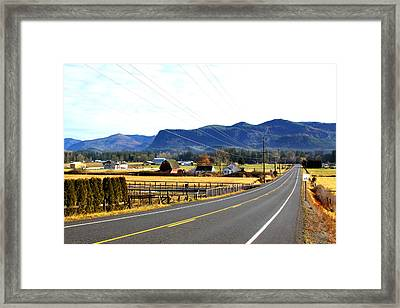 Road In The Mountains Framed Print by Sergey  Nassyrov