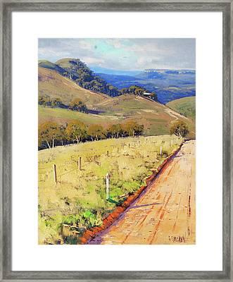 Road Into The Kanimbla Valley Framed Print by Graham Gercken