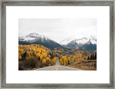 Road Into The Snow Peaks Framed Print by Bedros Awak