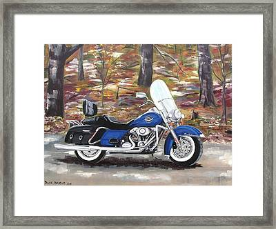 Road King Framed Print by Diane Daigle