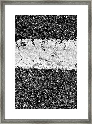 Road Line And Pavement Details Framed Print by Jorgo Photography - Wall Art Gallery