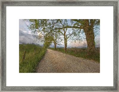 Road Not Traveled IIi Framed Print by Jon Glaser