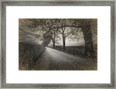 Road Not Traveled Iv Framed Print by Jon Glaser