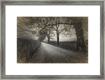 Road Not Traveled Iv Framed Print
