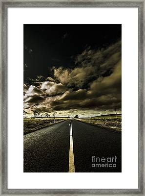 Road Of Coming Darkness Framed Print by Jorgo Photography - Wall Art Gallery