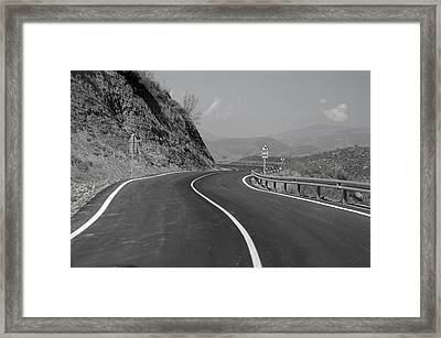 Road Out Framed Print by Jez C Self