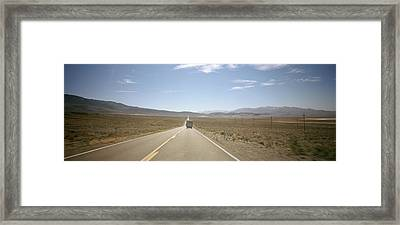 Road Passing Through A Landscape, Death Framed Print by Panoramic Images