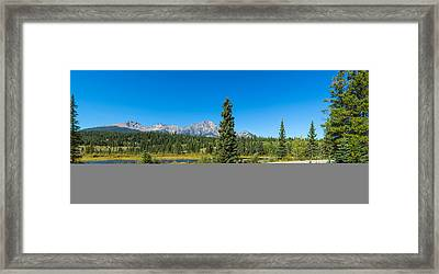 Road Passing Through Pyramid Lake Framed Print by Panoramic Images