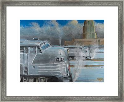 Road Power At Buffalo Framed Print by Christopher Jenkins