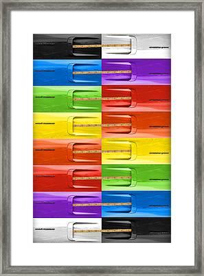 Road Runner Rainbow Framed Print