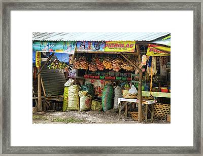 Road Side Store Philippines Framed Print by James BO  Insogna