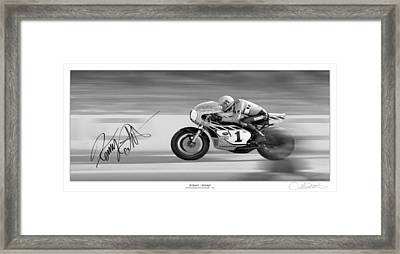Road  Speed Framed Print