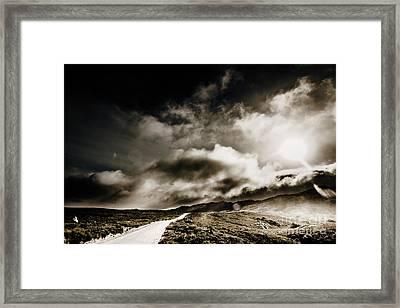 Road Storm Framed Print