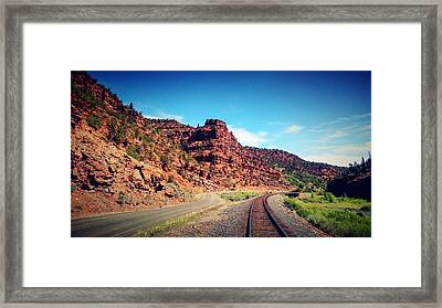 Road The The Past Framed Print