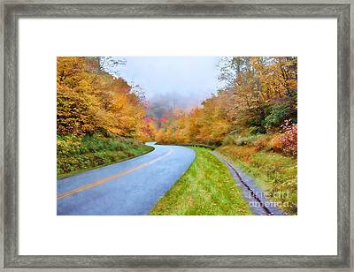 Road Through Autumn Paradise Ap Framed Print by Dan Carmichael