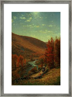 Road Through Belvedere Framed Print by Thomas Worthington