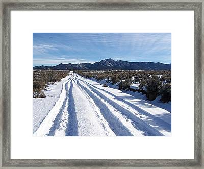 The Road Of Happiness Framed Print