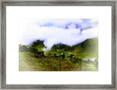 Road Through The Andes Framed Print by Al Bourassa