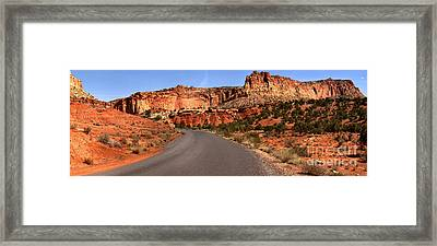 Road Through The Waterpocket  Framed Print by Adam Jewell