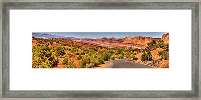 Road Through The Waterpocket Fold Framed Print