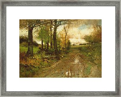 Road Through The Woods Framed Print by John Francis Murphy
