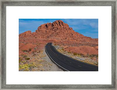 Road Through Valley Of Fire, Nv Framed Print by Gunter Nezhoda