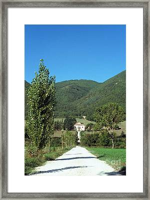 Road To A Country Mansion Framed Print