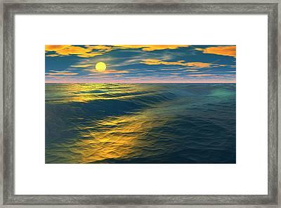 Road To Atlantis Framed Print by David Jackson