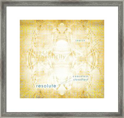 Road To Authenticity Framed Print