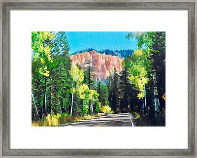 Road To Bryce Canyon Framed Print