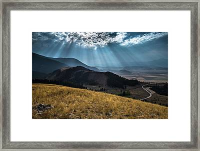 Road To Curtis Canyon Framed Print